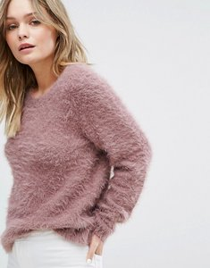 Read more about Jdy fluffy knitted jumper - pink