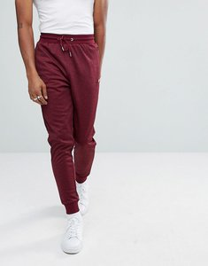 Read more about Ellesse poly tricot track joggers in burgundy - red
