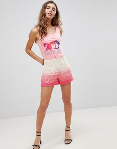 Read more about Brave soul andrea crochet shorts in dip dye - pink