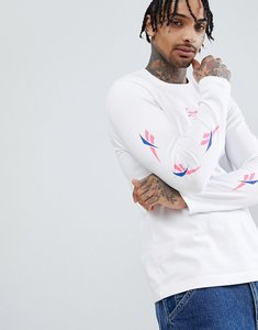 Read more about Reebok long sleeve t-shirt with vector arm print in white dn9806 - white