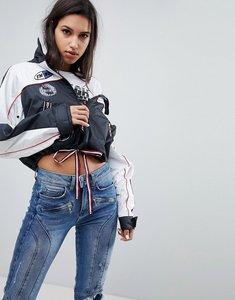 Read more about Gigi hadid patch logo windbreaker jacket - black beauty multi