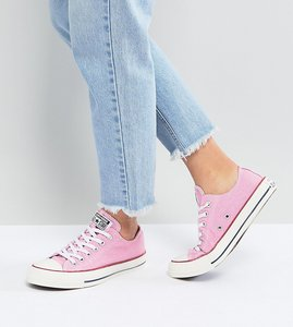 Read more about Converse chuck taylor all star ox trainers in stonewashed pink - pink