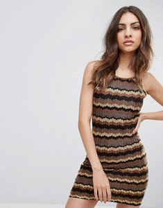 Read more about Glamorous zig zag dress - brown