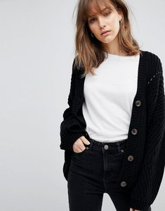 Read more about Asos cardigan in chunky oversized fit - black