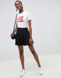 Read more about Asos design tailored mini pleated skirt - black
