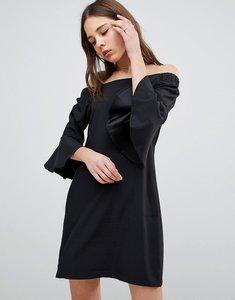 Read more about Glamorous flare sleeve bardot dress - black