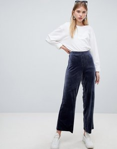 Read more about Weekday velvet trouser - navy