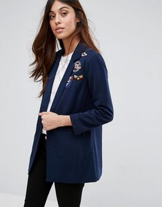 Read more about Vero moda blazer with patches - navy