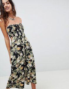 3e08aa91d1ae Read more about Asos design bandeau jumpsuit with cut out and drape detail  in print