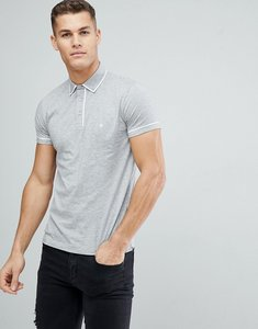 Read more about French connection piping polo shirt - light grey mel