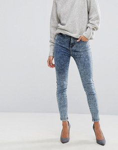 Read more about Dr denim zoe high rise skinny jean in acidwash - acid dark blue
