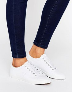 Read more about Fred perry kingston white leather trainers - white white