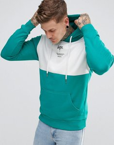 Read more about Hype hoodie in teal with panel - green