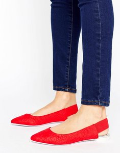 Read more about Aldo slingback point shoes - red