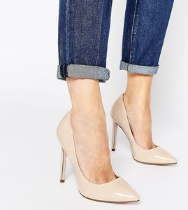 Read more about Asos playful wide fit pointed heels - nude
