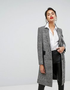 Read more about Morgan collard check coat - grey check