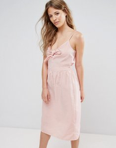 Read more about Miss selfridge tie front sun dress - coral