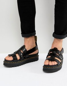 Read more about Dr martens terry strap sandals in black - black