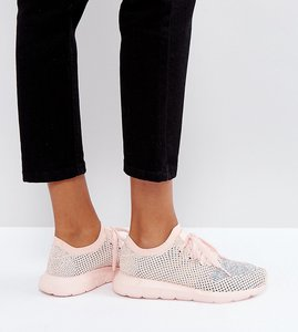 Read more about Adidas originals swift run primeknit trainers in pale pink - pink
