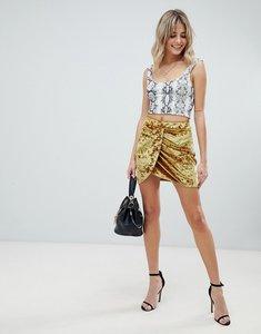 Read more about Asos design velvet mini wrap skirt