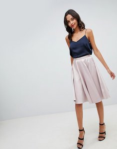 Read more about Closet london sateen midi skirt - blush