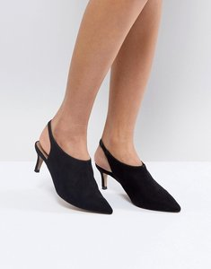 Read more about Asos solution slingback kitten heels - black