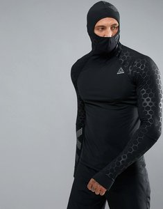 Read more about Reebok training scuba hoodie with hex reflective detailing in black bq3612 - black