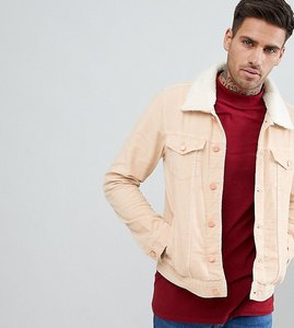 Read more about Brooklyn supply co stone cord borg jacket - be1 beige 1
