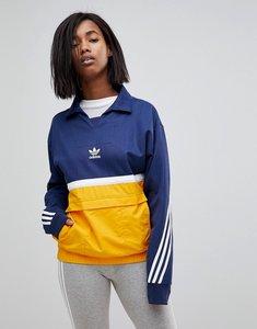 Read more about Adidas originals nova colourblock pullover jacket - navy