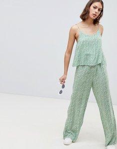 Read more about Ichi printed loose jumpsuit - dark ivy