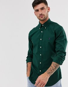 Read more about Polo ralph lauren poplin shirt slim fit button down player logo in green