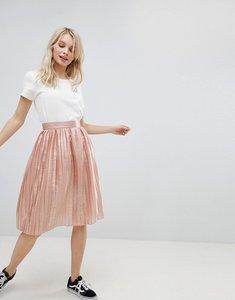 Read more about Glamorous pleated metallic skirt - peach metallic