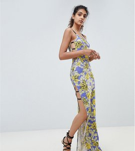 79b7478904 Read more about Asos design tall maxi cami strappy bodycon dress in floral  print