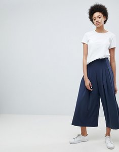 Read more about Weekday pleat front wide leg trouser - navy