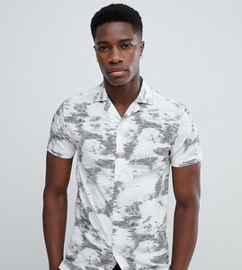 Read more about Noak skinny revere collar shirt in floral - white