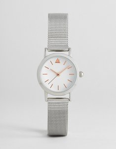 Read more about Asos curve mini silver mesh watch - silver