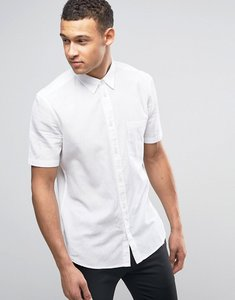 Read more about French connection linen shirt with short sleeves - white