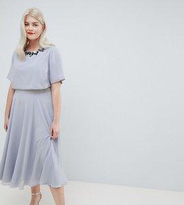 0a84a5cbd98a90 Read more about Asos design curve 3d embellished crop top midi skater dress  - pale blue
