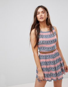 Read more about Glamorous printed dress - navy dusty pink boho