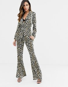 Read more about Asos design kick flare trouser in animal print
