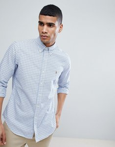 Read more about Polo ralph lauren check slim fit oxford shirt multi player in blue - blue