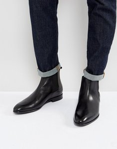 Read more about Hugo dressapp burnished calf leather chelsea boot in black - black 001