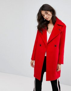 Read more about Neon rose oversized cocoon coat - red