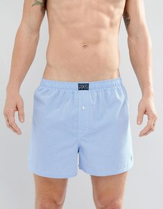 Read more about Polo ralph lauren woven boxers in gingham - blue