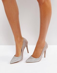 Read more about Asos passion ombre pointed heels - silver rose gold