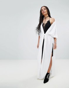 Read more about Noisy may maxi tie waist cardigan - bright white