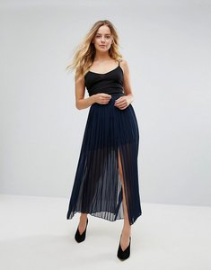 Read more about French connection copper sheer pleated maxi skirt - nocturnal