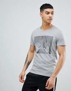 Read more about Blend hand t-shirt - stone mix