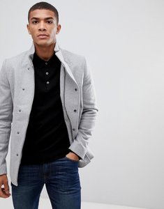 Read more about Only sons asymmetric wool overcoat - light grey melange