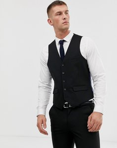 Read more about Harry brown plain stretch slim suit waistcoat - black
